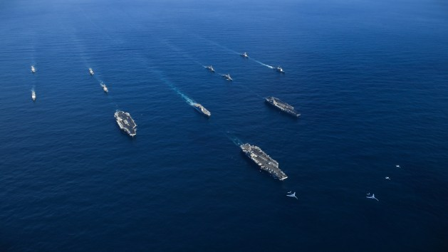 Three-Carrier Strike Force Exercise