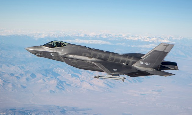 f-35 panel falls off in flight