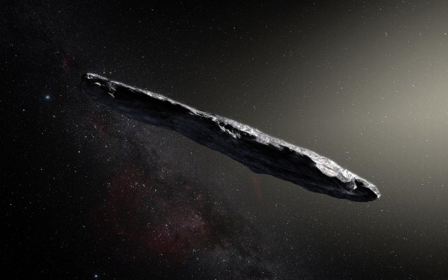 oddly shaped interstellar asteroid Oumuamua