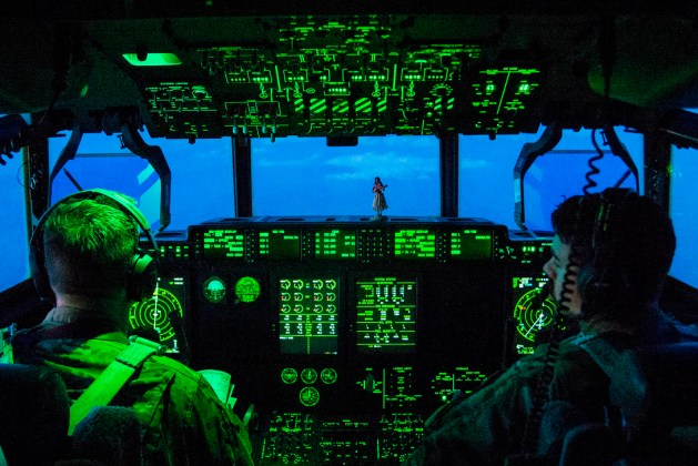 Air Force C-130 Hercules Pilots Prepare to Land in Afghanistan