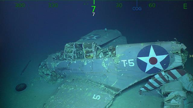 USS Lexington Found 76 Years after WWII Sinking