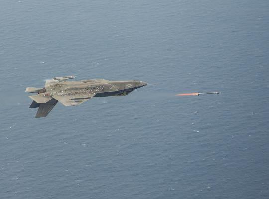 Lockheed Martin F-35 Performs an Inverted Live Fire of an AIM-9x Missile
