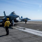 Rafale Marine of the French Navy Prepares to Launch from the USS George H.W. Bush