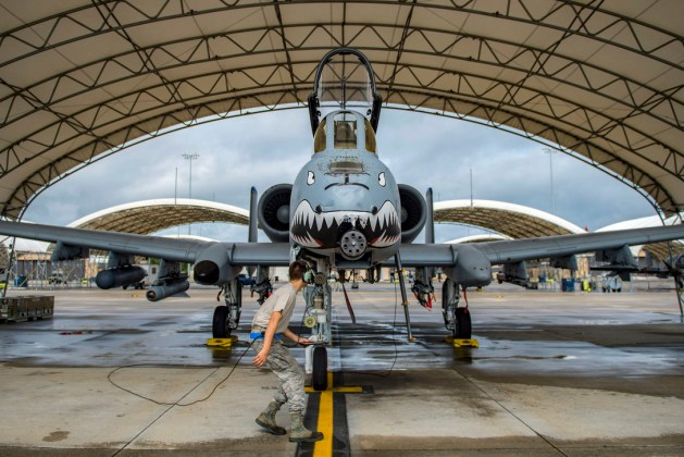 Air Force Airman 1st Class Jacob Curry Performs Preflight Checks