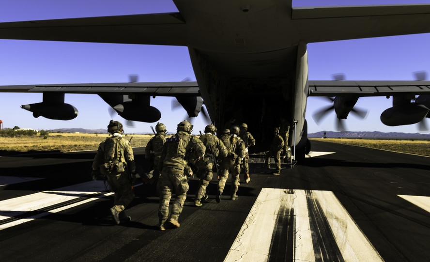 Rescue Personnel Transfer onto an HC-130J Combat King II