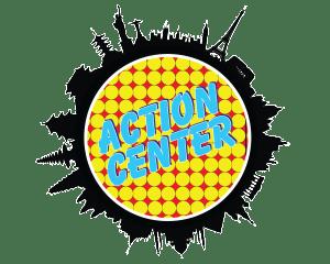 ACTION CENTER white outline