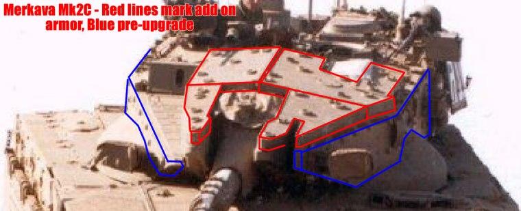 Merkava Mk2 – Mk2C Armor Image 1