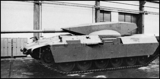 Merkava Tank Wooden mock-up on Centurion Sho't tank hull