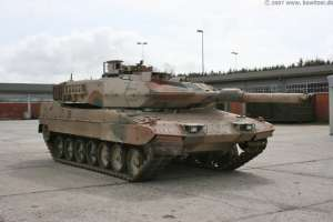 Leopard 2A5DK Tank upgraded for the Afghanistan War