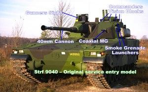 Combat Vehicle 90 - Mk0 Swedish Strf 9040