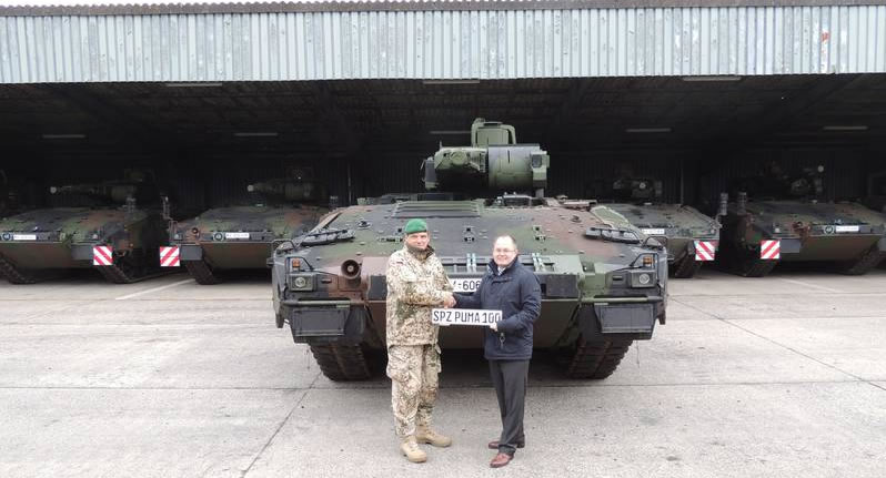 100th Puma IFV SPz Being handed over to the German Army