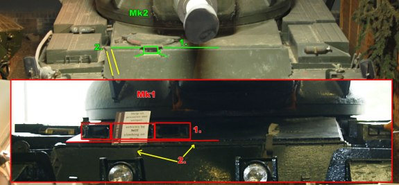 Conqueror Tank Mk1 and Mk2 Differences Image 1
