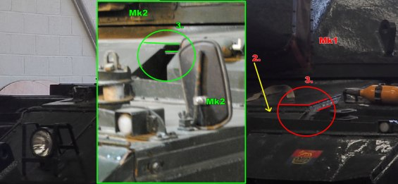 Conqueror Tank Mk1 and Mk2 Differences Image 2