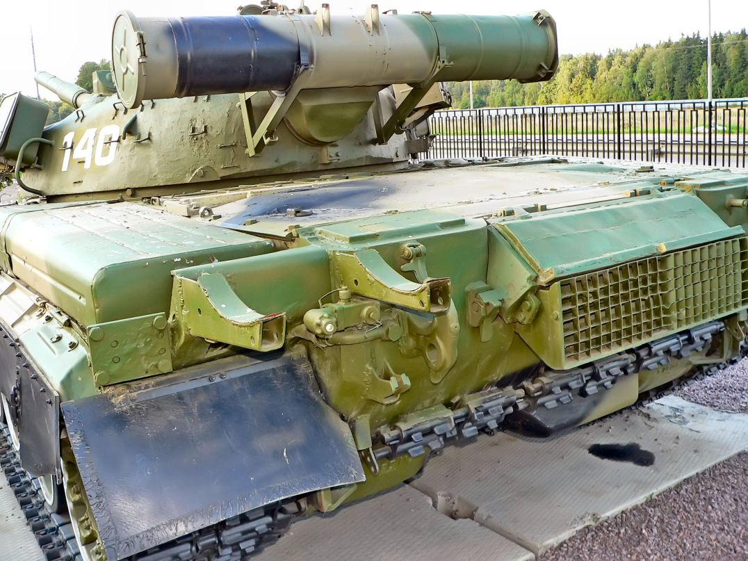 T-80B Tank with 20mm appliqué armor on the hull front