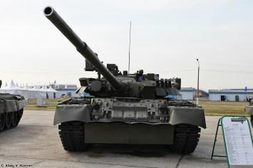 Russian T-80U Tank Front view