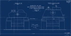 French AMX-50 Tank model the AMX-50-120 Blueprint (2)