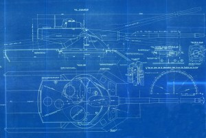 French AMX-50 Tank model the AMX-50-120 Blueprint