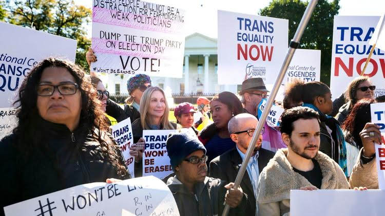Trans protest, Washington, D.C., October 22.
