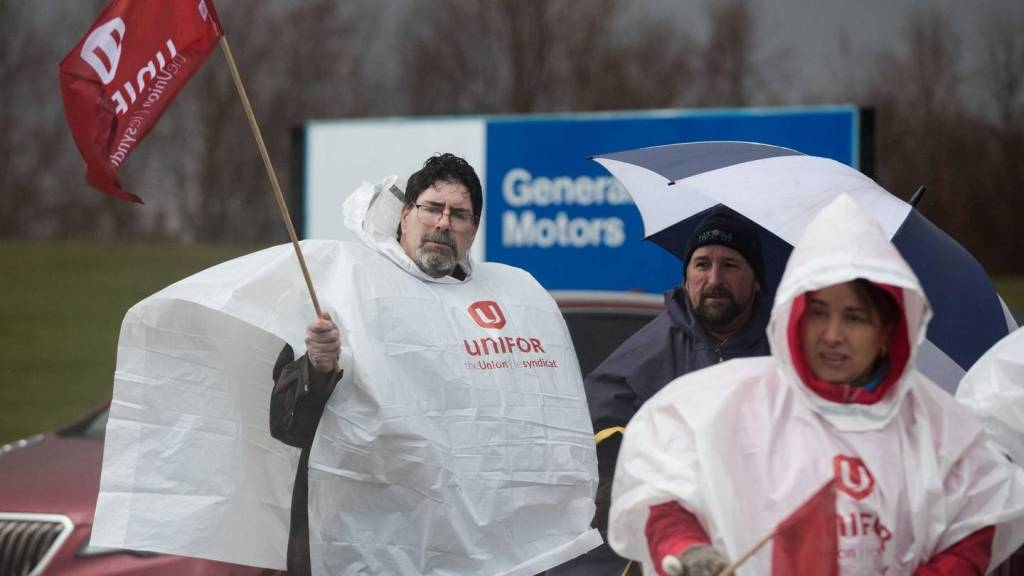 Workers at GM's Oshawa Assembly in Canada walk out to protest plant closure, mass layoffs