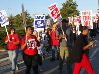 Detroit Solidarity with UAW strike against General Motors 09-18-2109