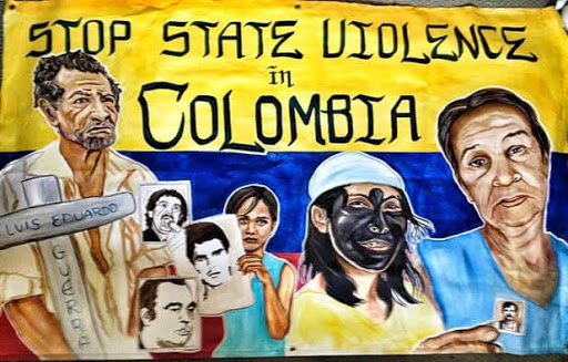 Stop State Violence in Columbia by artist Erin Yoshi