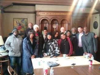 Detroit People's Task Force meeting participants on Nov. 14, 2019 at Cass Commons