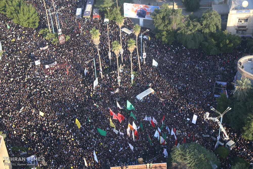 Funeral procession for Major General Qassem Soleimani, commander the Quds Force of Iran's Islamic Revolution Guards Corps
