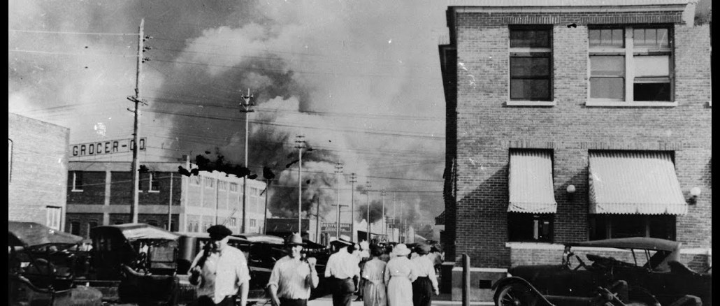 Tulsa massacre of 1921 where white mobs attacked the African American community killing 300 people.