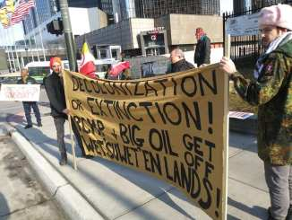 Detroit Third Wet'suwet'en solidarity action on March 2, 2020