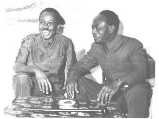 Julius Nyerere and Kwame Nkrumah leaders of the Tanzanian and Ghanaian Revolutions in Africa