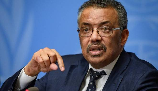 World Health Organization Director General Dr. Tedros Adhanom Ghebreyesus
