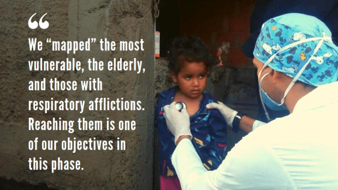 Doctor Gutierrez, part of the Altos de Lidice Communal Healthcare System, during a house-to-house visit