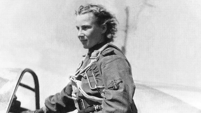 Lilya Litvyak, born Lydia Vladimirovna Litvyak, 1921-1943, flying ace who shot down 9 Luftwaffe pilots, the greatest number of kills by a female fighter pilot.