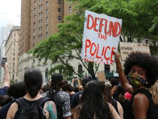 Chicago demonstration calling for defunding the police