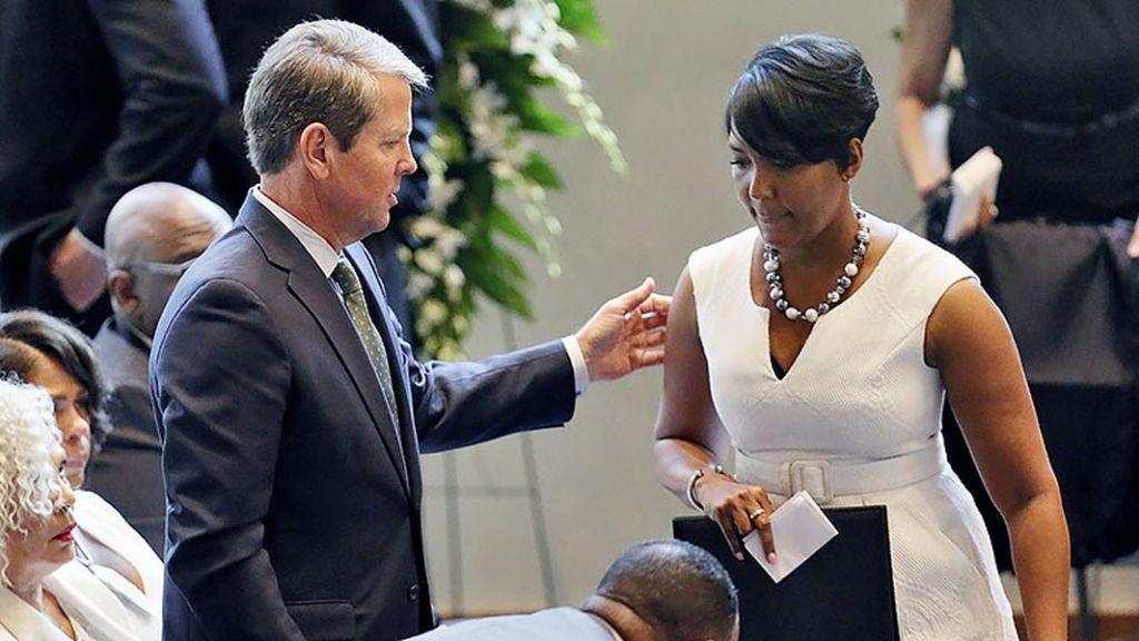 Atlanta Mayor Keisha Lance Bottoms and Georgia Gov. Brian Kemp