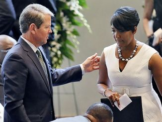 Atlanta Mayor Keisha Lance Bottoms and Georgia Gov. Brian Kemp