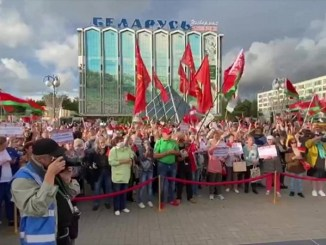 "Pro-Lukashenko ""Women for Unity and Peace"" demonstration in Belarus"