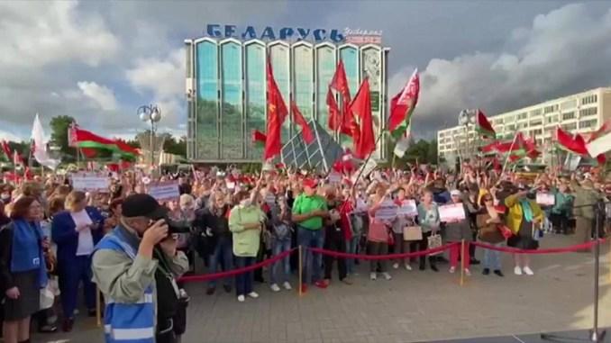 "Pro-Lukashenko ""Women for Unity and Peace"" demonstration in Belarus"