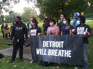 Detroit demonstration led by Detroit Will Breathe against police brutality on the southwest side on Oct. 10, 2020.