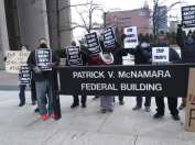 Detroit demonstration against federal executions downtown on Dec. 9, 2020