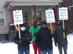 Detroit demonstration supports Michigan State Rep. Cynthia A. Johnson