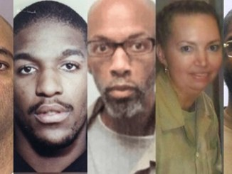 From left, Alfred Bourgeois, Cory Johnson, Dustin Higgs, Lisa Montgomery and Brandon Bernard