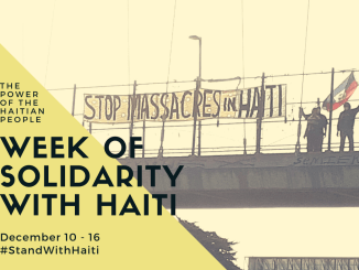 Week of Solidarity with Haiti Dec 10-16