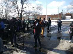 Detroit demonstration against evictions at the 10th precinct