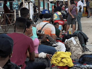 Migrants in Colombia seeking to enter Central America