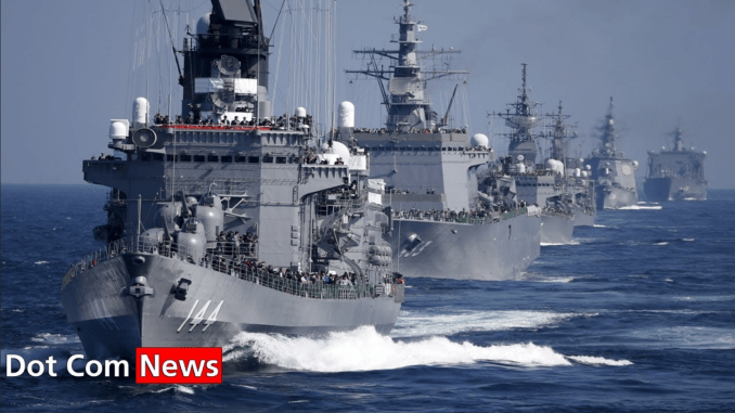Chinese fleet patrolling the South China Sea
