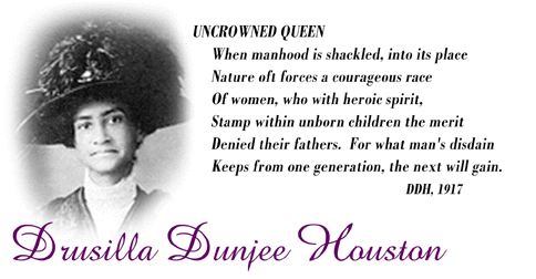 African American journalist and scholar Drusilla Dunjee Houston