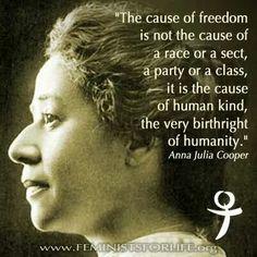 Anna Julia Cooper on the struggle for freedom
