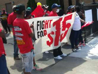 Fight for $15 McDonald's strike on May 19, 2021