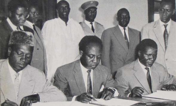 Ghana-Guinea-Mali Union of 1960 with Nkrumah, Toure and Keita